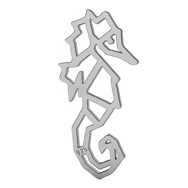 Konik morski origami zawieszka srebro próby 925, LK-1507 - 0,50