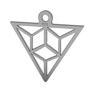 Trójkąt origami zawieszka srebro próby 925, LK-1508 - 0,50