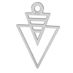 Trójkąt origami zawieszka srebro próby 925, LK-1509 - 0,50