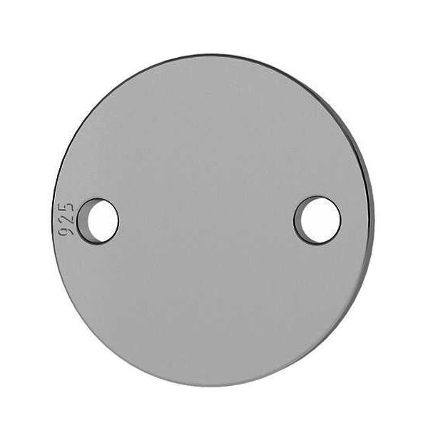 Okrągła blaszka zawieszka łącznik 19 mm ze srebra próby 925, LKM-2004