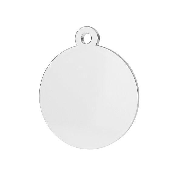 Okrągła blaszka zawieszka ze srebra próby 925, LKM-2002