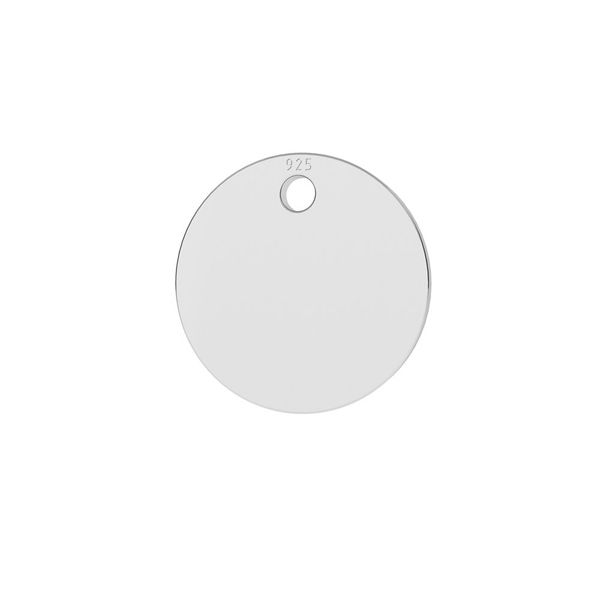 Okrągła blaszka zawieszka 10 mm ze srebra próby 925, LKM-2013