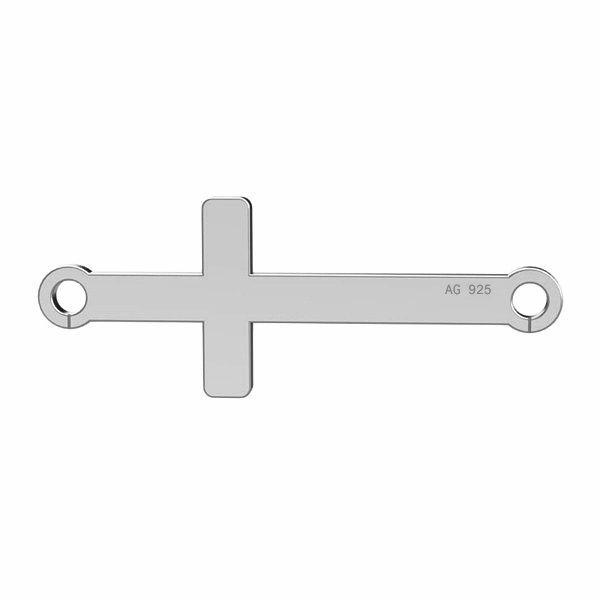 Poziomy krzyżyk zawieszka łącznik srebro 925, LKM-2022