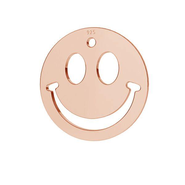 Uśmiech buźka emotikon zawieszka srebro 925, LKM-2025