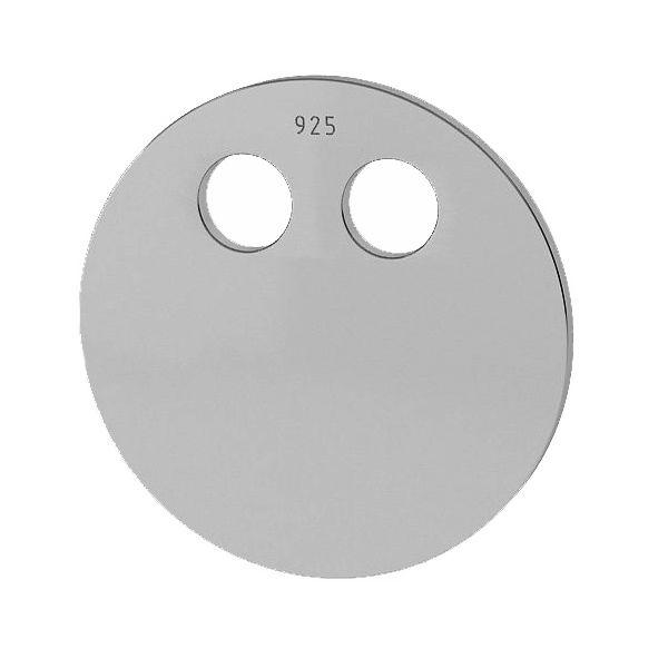 Okrągła blaszka zawieszka 14 mm do grawerowania, ze srebra , srebro 925, LKM-2032