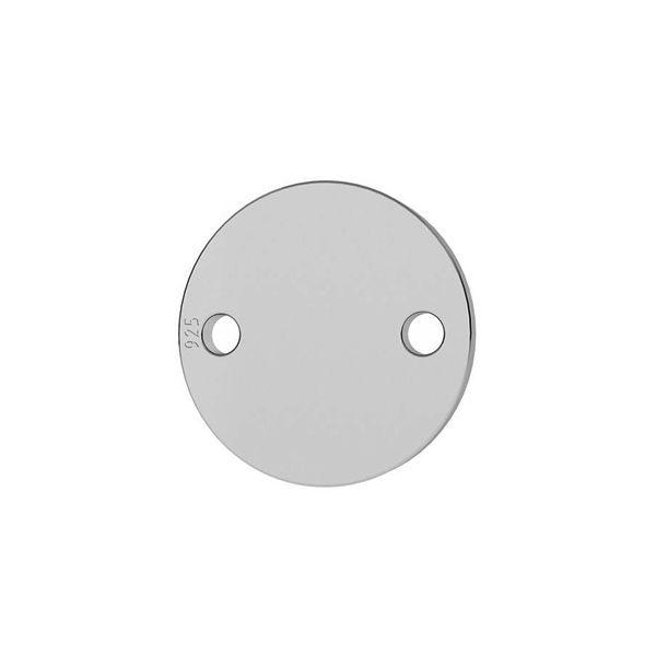 Okrągła blaszka zawieszka łącznik 9 mm srebro 925, LKM-2035