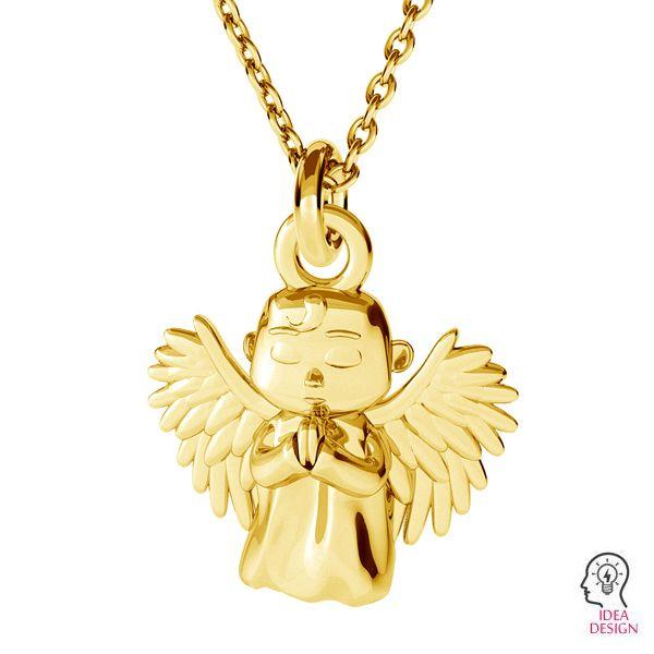 Anioł zawieszka ze srebra 925, ODL-00460