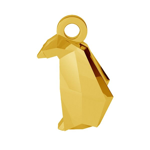 Pingwin origami zawieszka, ze srebra 925, ODL-00436