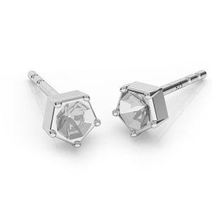 Kolczyki baza do okrągłych kryształów 3 mm, srebro 925, ODL-00466 KLS (1088 PP 24)