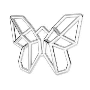 Motyl origami zawieszka, srebro 925, ODL-00459
