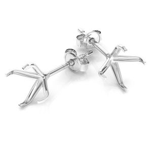 Kolczyki baza do okrągłych kryształów 6 mm, srebro 925, KLSB 23 (1088 SS 29)