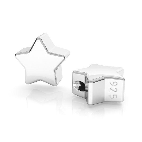 Gwiazda zawieszka przelotowa, przekładka srebro 925, ODL-00478