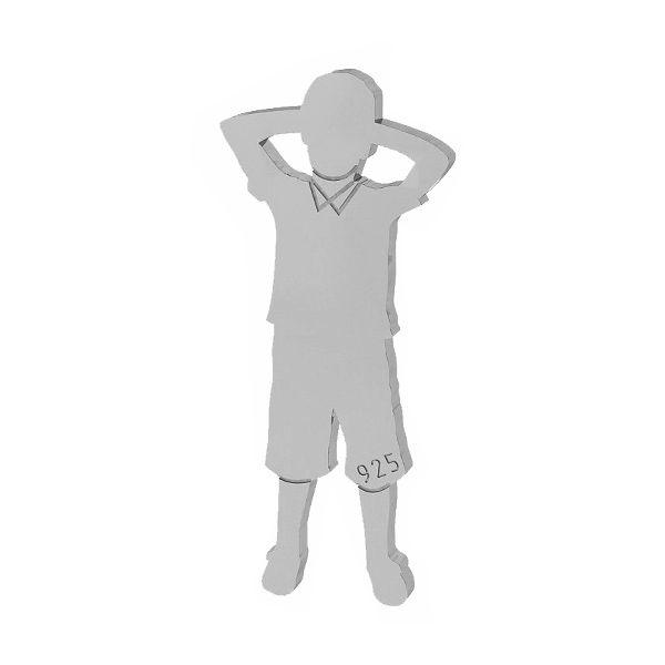 Chłopiec zawieszka łącznik ze srebra próby 925, LK-1514 - 0,50