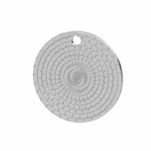 Okrągła blaszka srebro próby 925, LK-1480 - 0,50
