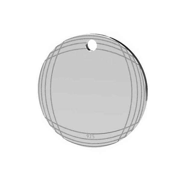 Okrągła blaszka srebro próby 925, LK-1481 - 0,50