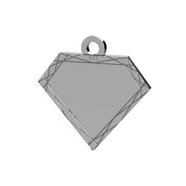 Blaszka diament zawieszka, srebro próby 925, LK-1484 - 0,50