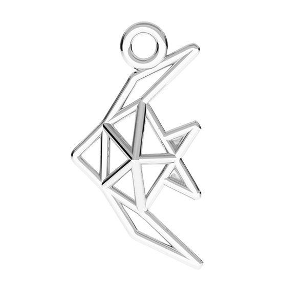 Ryba origami zawieszka, srebro 925, ODL-00490