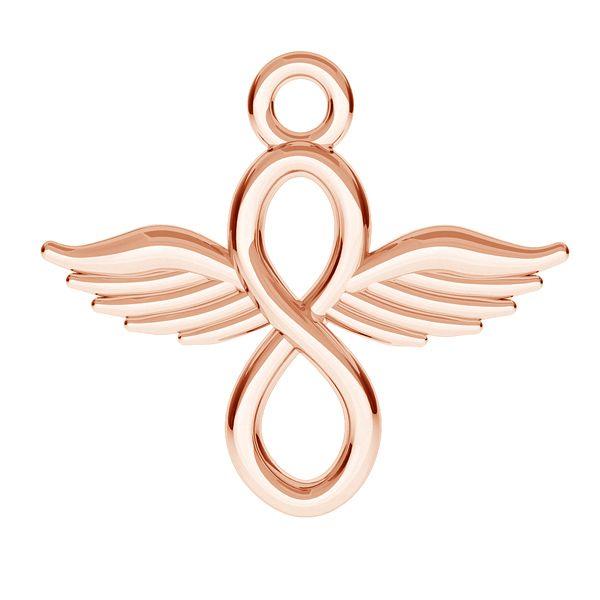 Znak nieskończoności z sercem zawieszka, srebro 925, ODL-00489