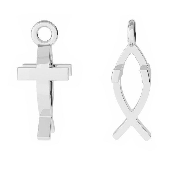 Krzyżyk Ichthys przywieszka, srebro 925, ODL-00471