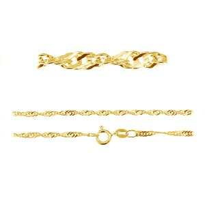 S 25 (40-60 cm) AU/RH, łańcuszek singapur srebro 925 złocone lub rodowane