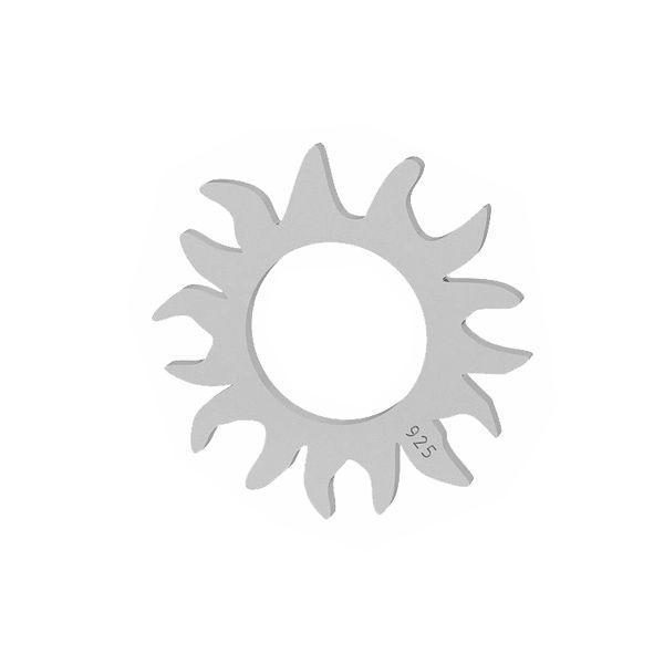 Słońce zawieszka, ze srebra 925, LKM-2091 - 0,50