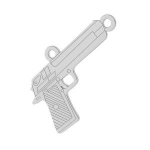 Pistolet zawieszka łącznik, srebro próby 925, LKM-2092 - 0,50
