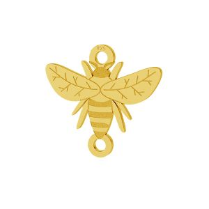Pszczoła zawieszka łącznik, srebro próby 925, LKM-2096 - 0,50
