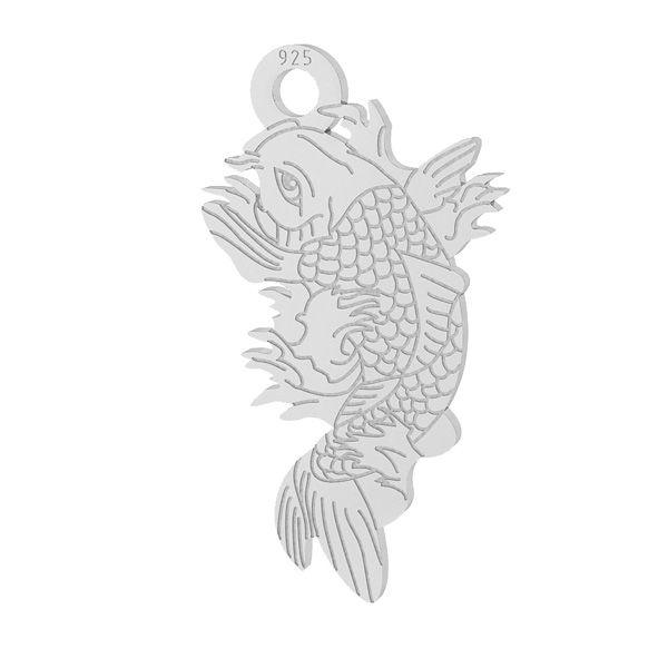 Ryba Koi zawieszka, srebro próby 925, LKM-2100 - 0,50
