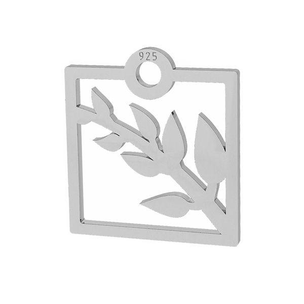 Gałązka zawieszka, srebro próby 925, LKM-2101 - 0,50