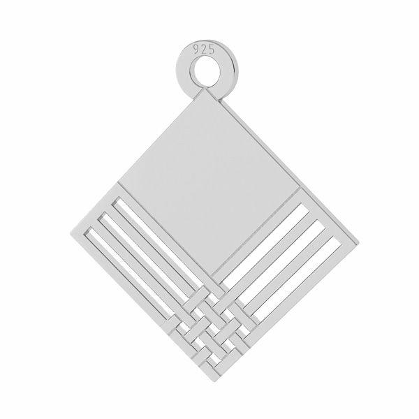 Kwadratowa zawieszka, srebro próby 925, LKM-2106 - 0,50