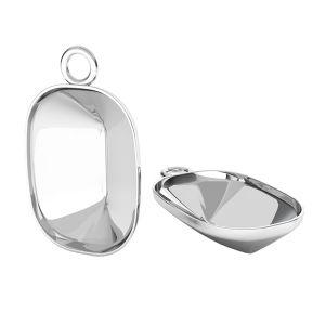 Sterling silver pendant Cushion Fancy Stone base, OKSV 4568 MM 14,0X 10,0 CON 1