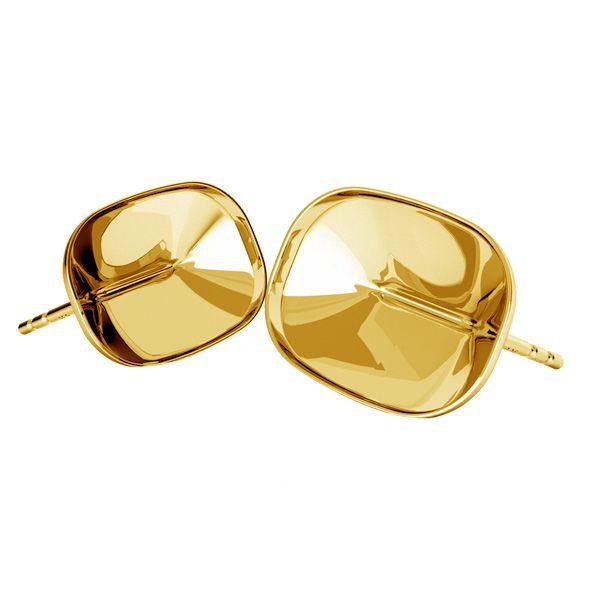 Srebrne kolczyki sztyfty baza do prostokątnych kryształów Cushion Fancy Stone, OKSV 4568 MM 14,0X 10,0 KLS