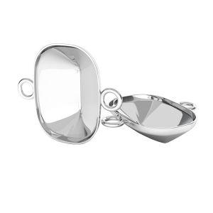 Srebrna zawieszka łącznik baza do prostokątnych kryształów Cushion Fancy Stone, OKSV 4568 MM 14,0X 10,0 CON 2