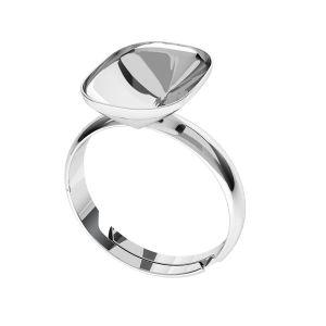 Pierścionek srebrna baza do prostokątnych kryształów Cushion Fancy Stone, OKSV 4568 MM 14,0X 10,0 S-Ring Universal