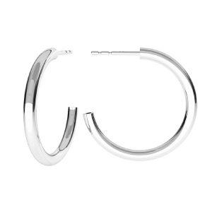 Półokrągłe kolczyki 2,3 cm, srebro próby 925, KLS-26