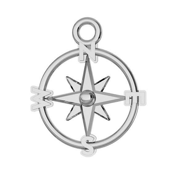 Kompas przywieszka srebro 925, ODL-00465