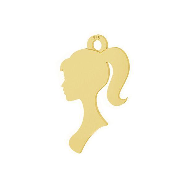Zawieszka profil kobiety, srebro 925, LKM-2099 - 0,50
