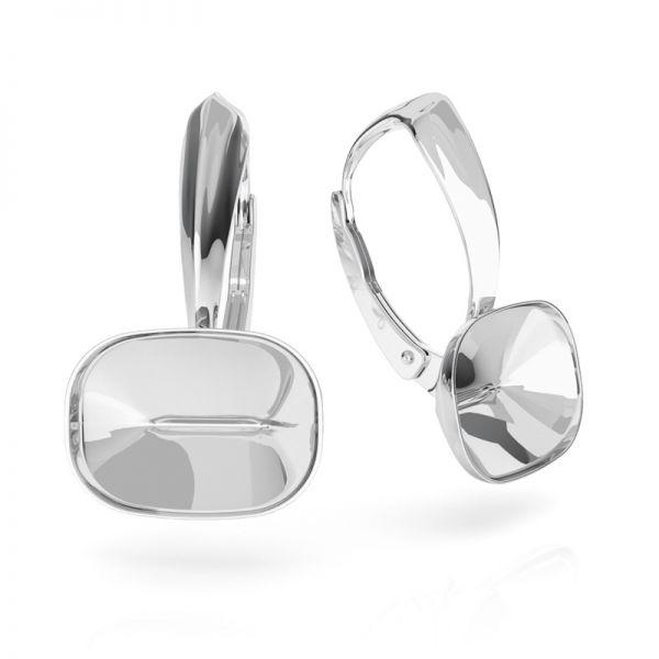 Srebrne kolczyki baza do prostokątnych kryształów Cushion Fancy Stone, OKSV 4568 MM 14,0X 10,0 BA 1 ver.2