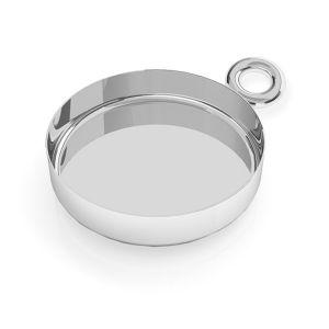 Okrągła forma do żywicy, zawieszka ze srebra 925, FMG ROUND 10 MM CON 1 - 2,60 MM