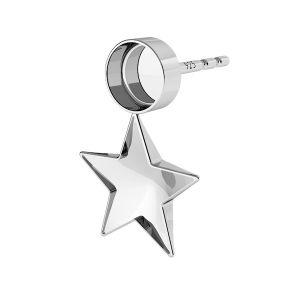 Kolczyki baza do żywicy i kryształów Swarovski gwiazda, SKSV 4745 10MM KLS 2