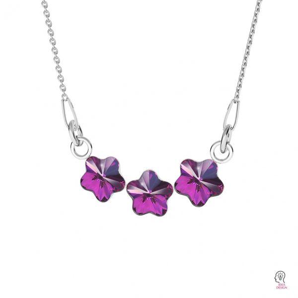 Srebrna zawieszka baza do kryształów Swarovski kwiatek, FKSV 4744 NE 1