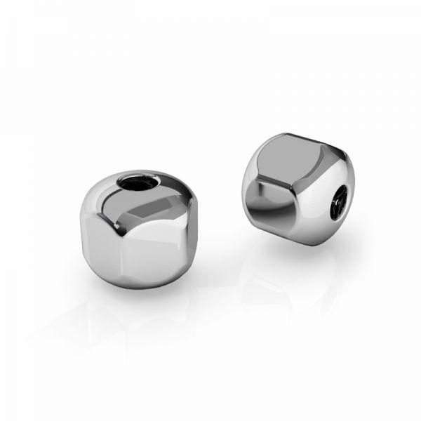 BHL 6,0 F:2,0 - Koralik przelotowy sześcian 6 mm, srebro 925