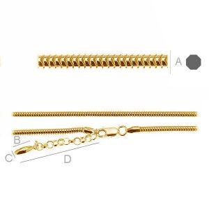 Neck Base CST 3,0 (45 - 55 cm ), naszyjnik baza do koralików typu beads, srebro 925