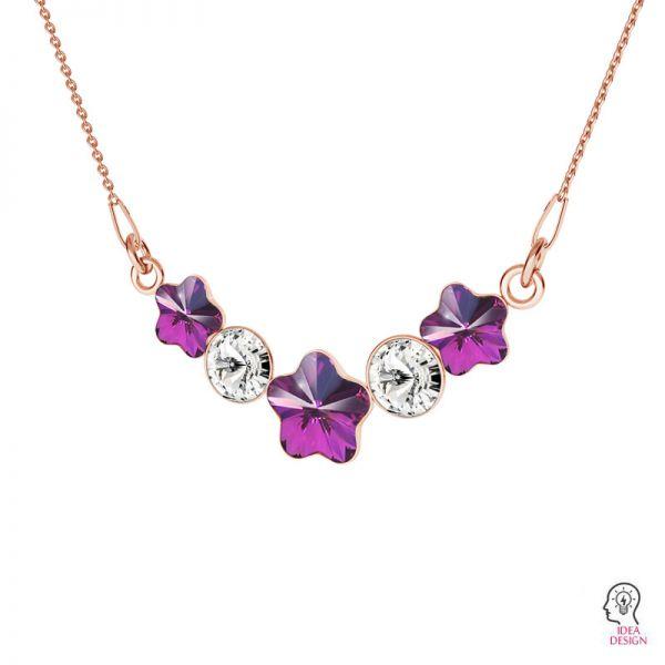 Srebrna zawieszka baza do kryształów Swarovski kwiatek i rivoli, FKSV 4744/1122 NE 2