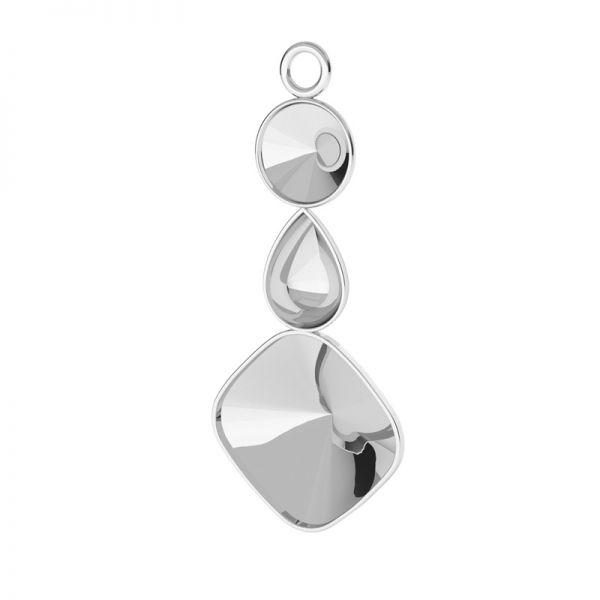 Srebrna przywieszka baza do żywicy i kryształów Swarovskiego, OKSV 4470, 4320 CON 1