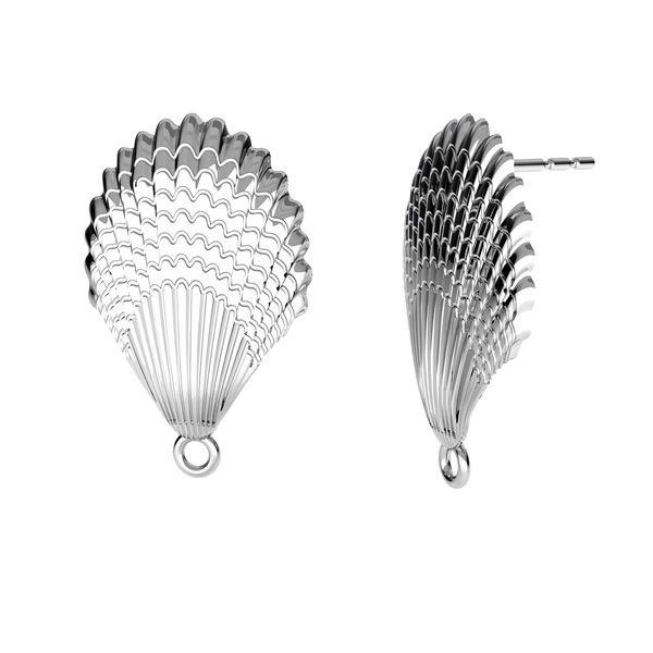 Kolczyk sztyft do podwieszania - muszelka*srebro AG 925*KLS ODL-00515 15x24,3 mm