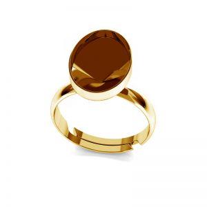 Srebrny pierścionek baza do Swarovskiego Rivoli Rivoli Owal, OKSV 4122 MM 14,0 RING
