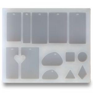 Silikonowa forma do odlewania zawieszek z żywicy, SFM 001
