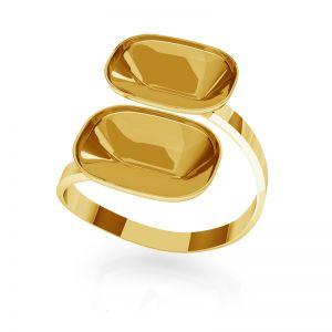 Pierścionek srebrna baza do prostokątnych kryształów Cushion Fancy Stone, OKSV 4568 MM 14,0X 10,0 DOUBLE RING