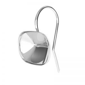 Srebrne kolczyki baza do prostokątnych kryształów Cushion Fancy Stone, OKSV 4568 MM 14,0X 10,0 BO ver.2